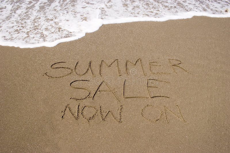 Vendita 01 di estate fotografie stock libere da diritti