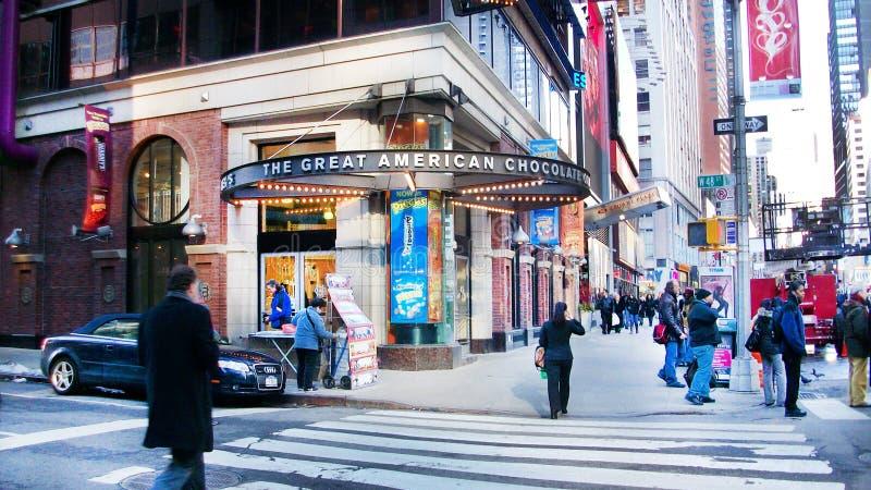 Vendita al dettaglio del cioccolato a New York fotografia stock