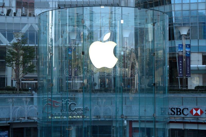 Vendita al dettaglio di Apple in lujiazui di Shanghai immagine stock libera da diritti