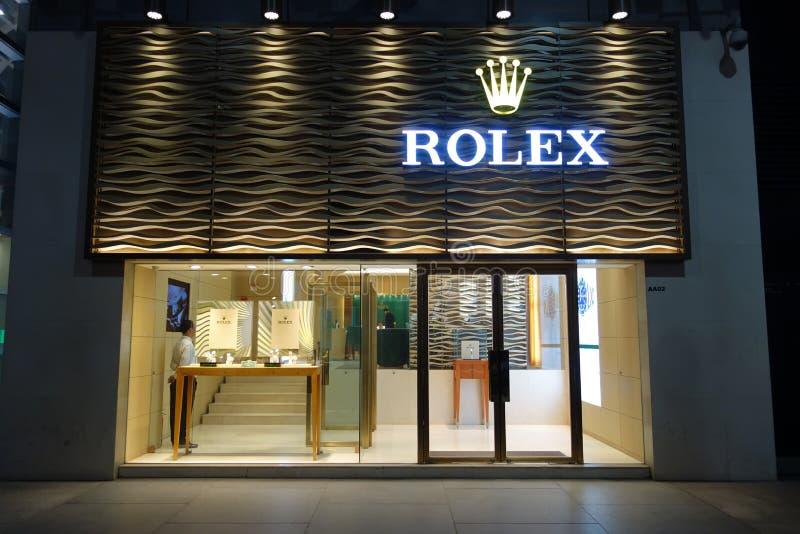 Vendita al dettaglio di Rolex a Pechino fotografia stock