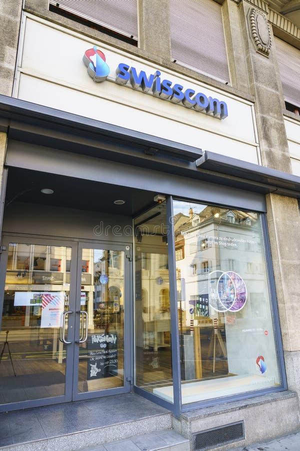 Vendita al dettaglio di Swisscom Communications immagine stock