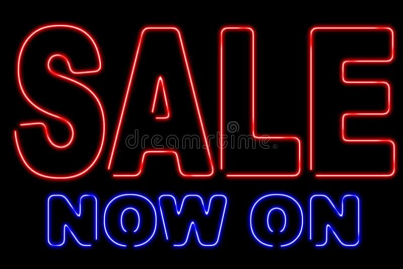 Vendita al neon immagini stock libere da diritti