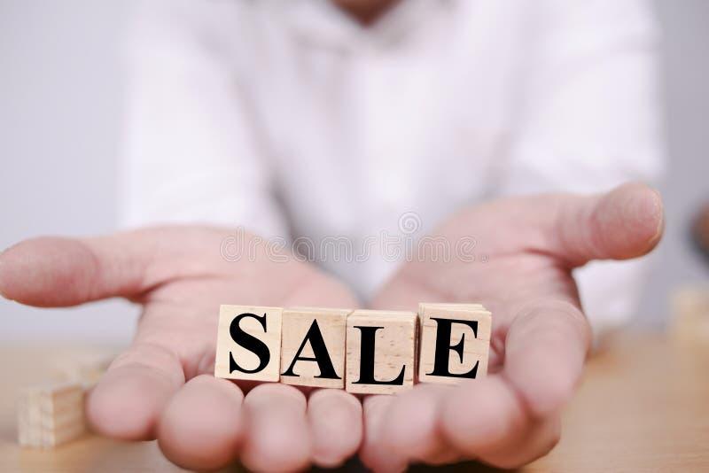 Vendita, concetto di tipografia di affari fotografia stock