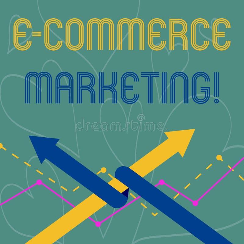Vendita concettuale di commercio elettronico di rappresentazione di scrittura della mano Foto di affari che montra affare che ven illustrazione di stock
