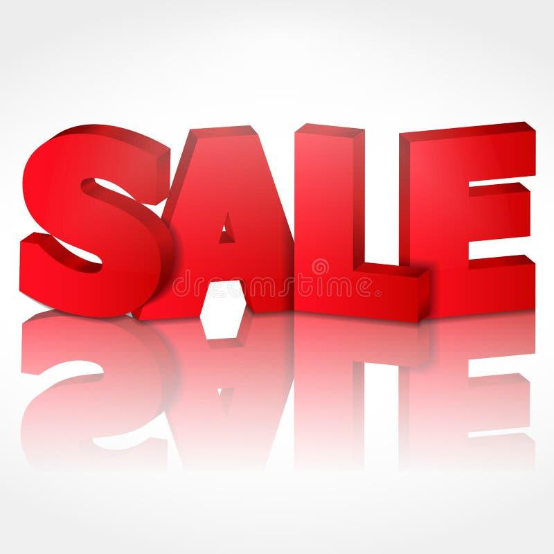 vendita 3D illustrazione di stock