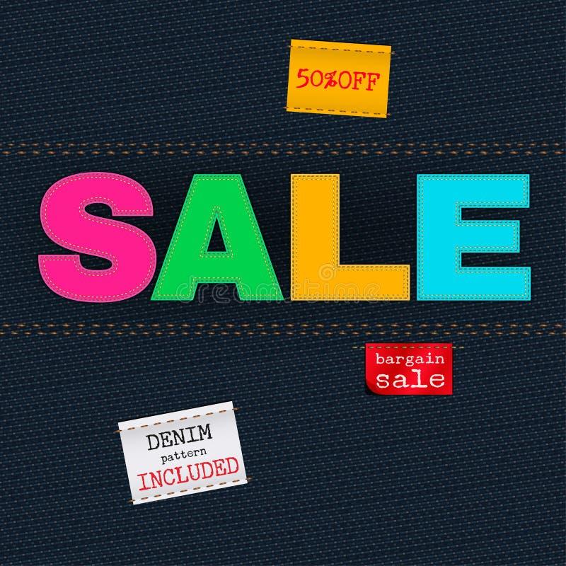 Vendita dei jeans royalty illustrazione gratis