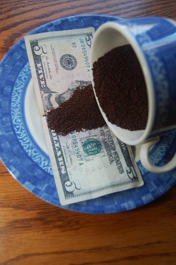 Vendita del caffè immagine stock libera da diritti