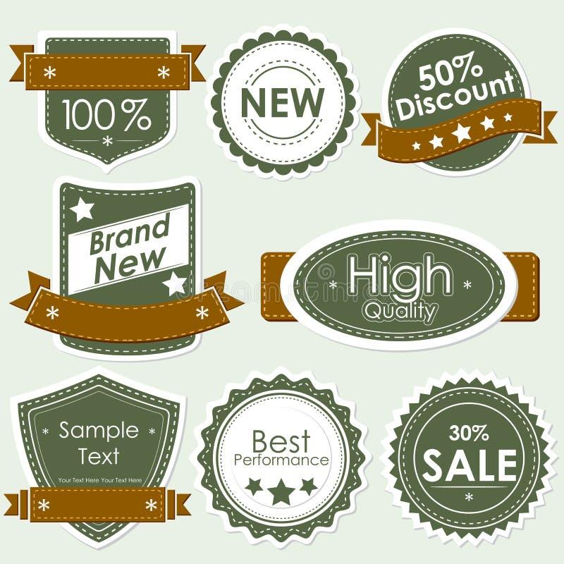 Vendita del distintivo illustrazione di stock