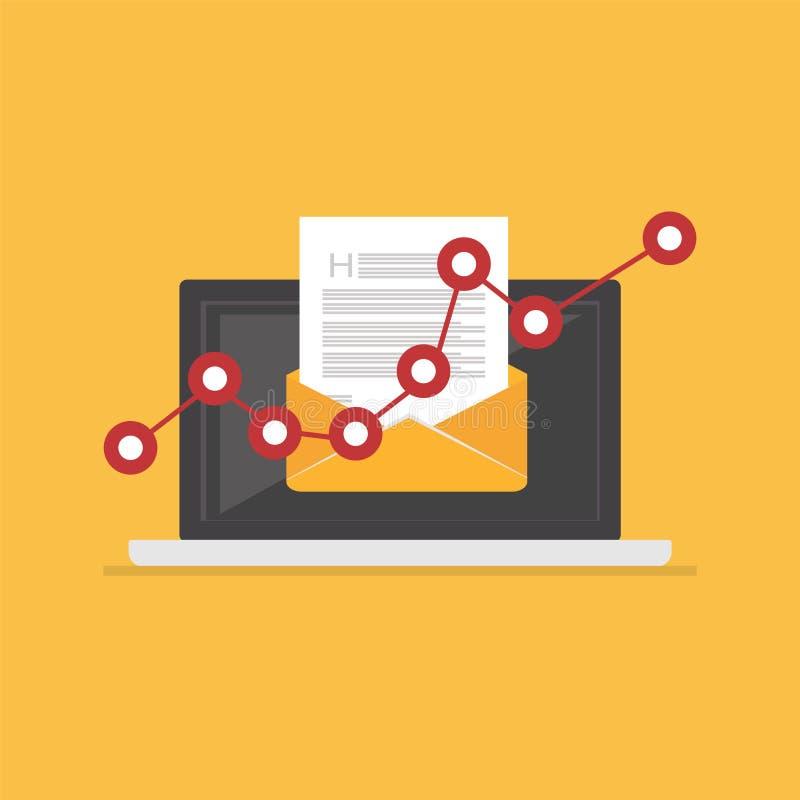 Vendita del email Illustrazione del email Posta elettronica illustrazione vettoriale