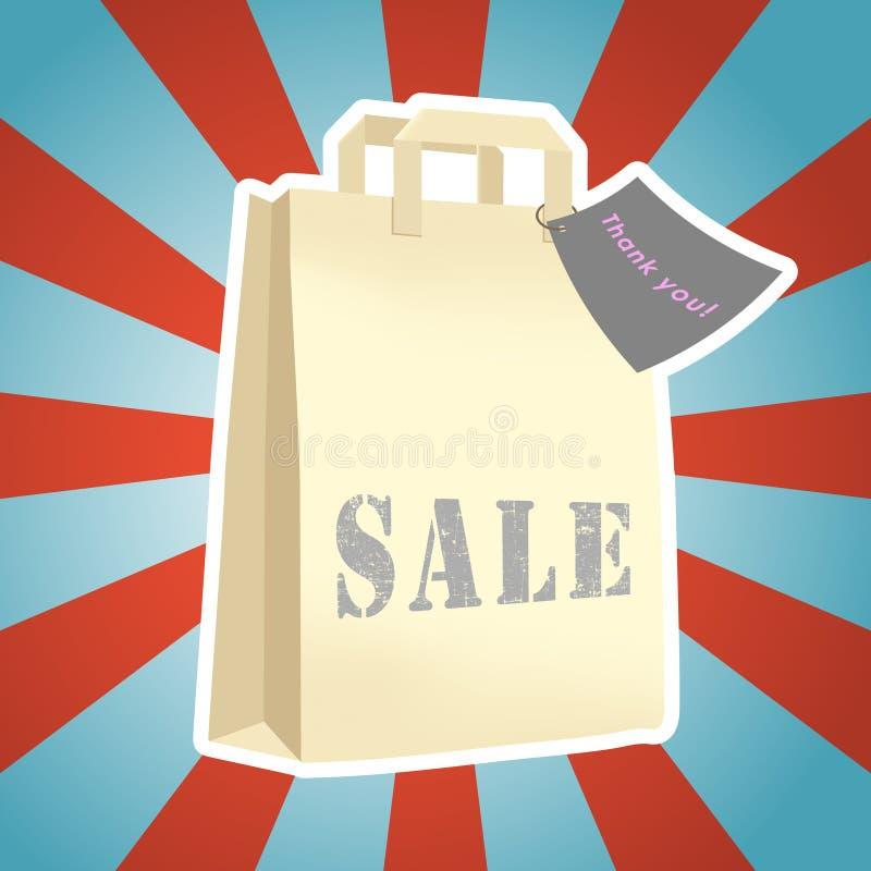Vendita del pacchetto di acquisto illustrazione di stock