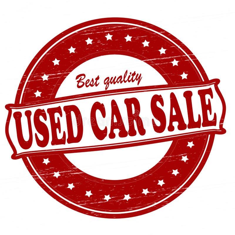 Vendita dell'auto usata illustrazione di stock