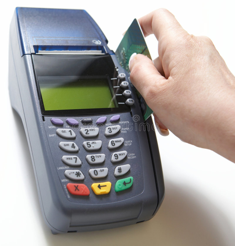 Vendita della carta di credito immagini stock libere da diritti