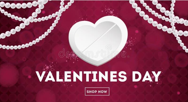 Vendita della carta di giorno di biglietti di S. Valentino Per le alette di filatoio, invito, manifesti, opuscolo, insegne royalty illustrazione gratis