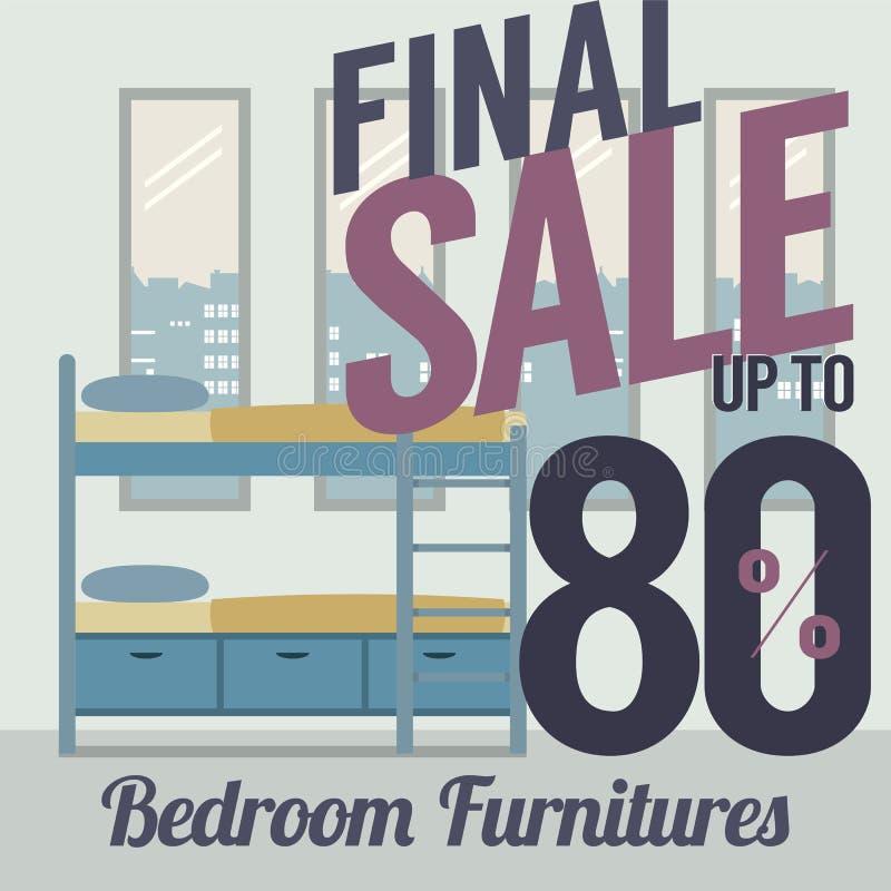 Vendita della mobilia fino a 80 per cento illustrazione vettoriale