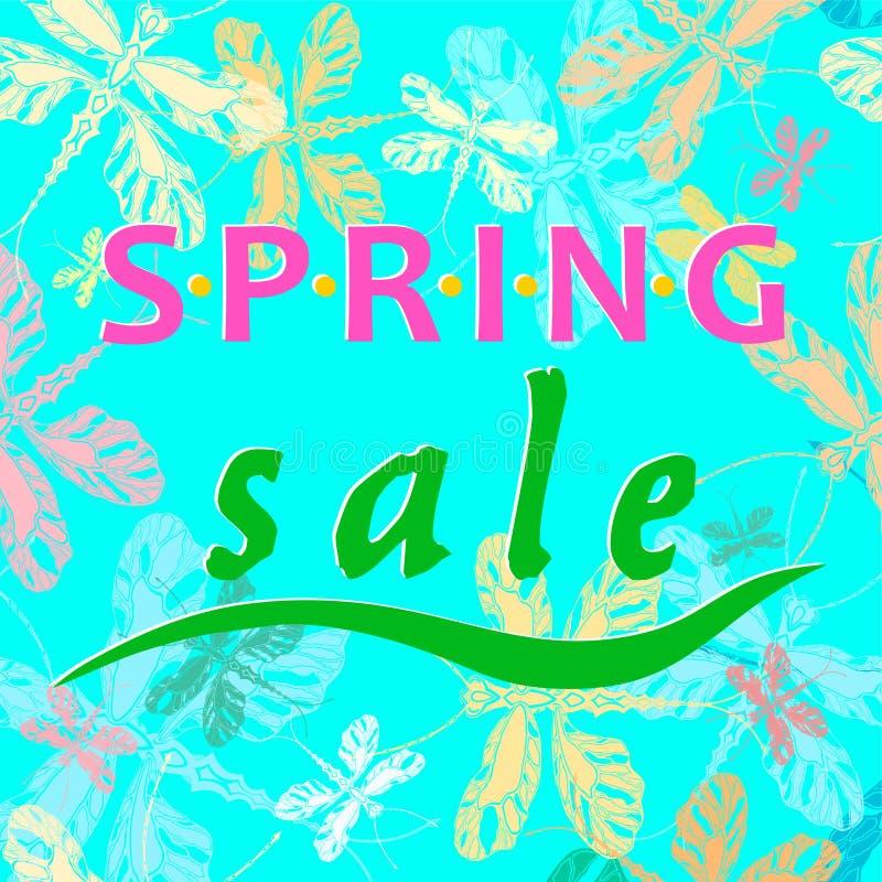 Vendita della primavera illustrazione di stock