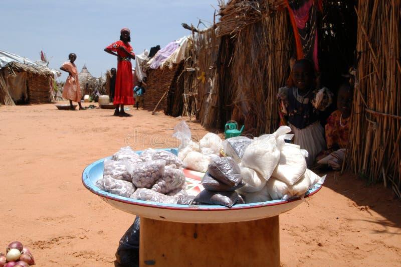 Vendita delle arachidi in Darfur fotografia stock