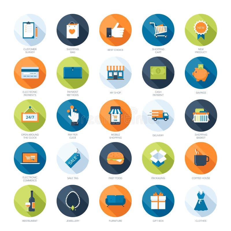 Vendita delle icone illustrazione di stock