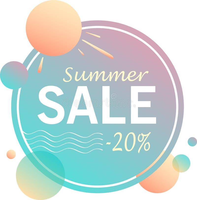 Vendita di estate - progettazione delle insegne illustrazione di stock