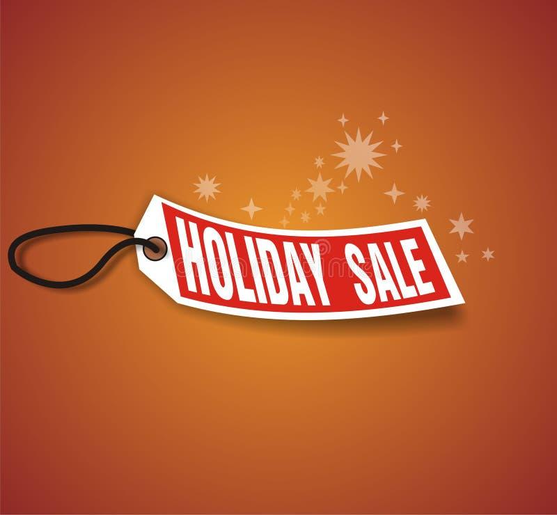 Vendita di festa di dicembre illustrazione di stock