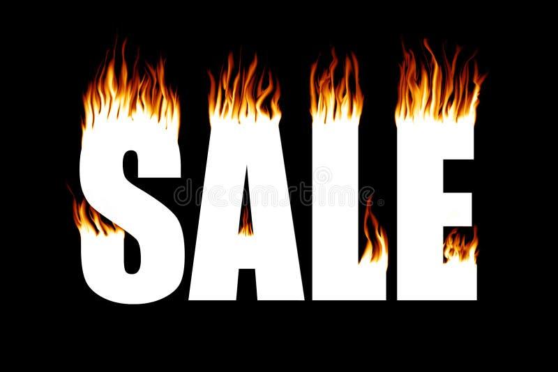 Vendita di fuoco fotografia stock