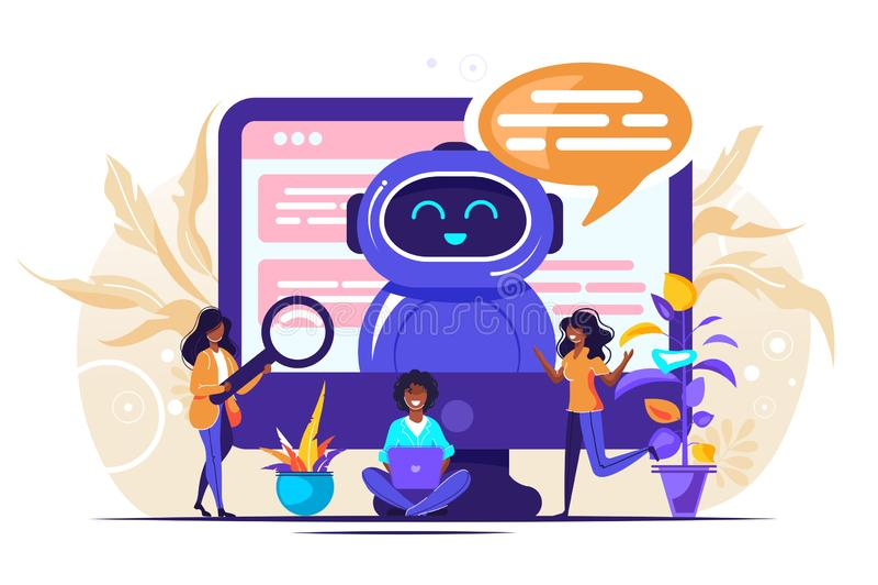 Vendita di futuro di Chatbot royalty illustrazione gratis