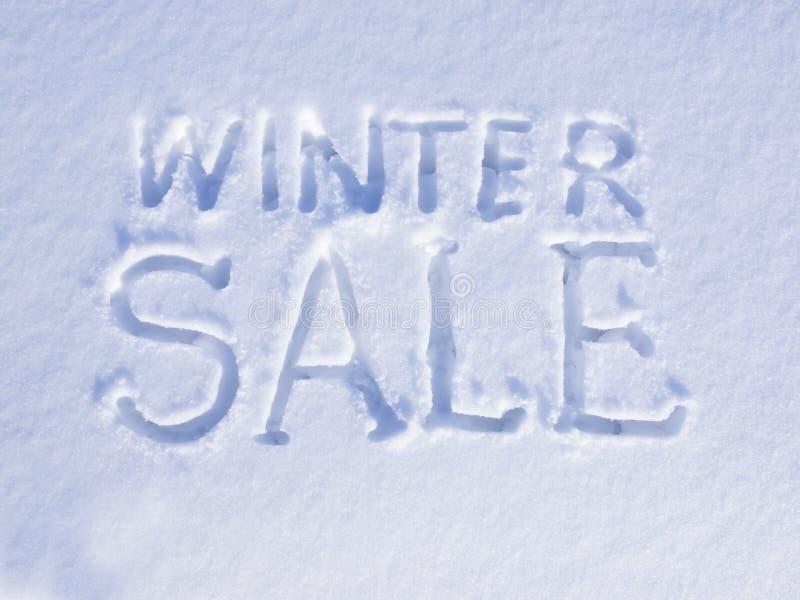 Vendita di inverno della neve fotografie stock libere da diritti