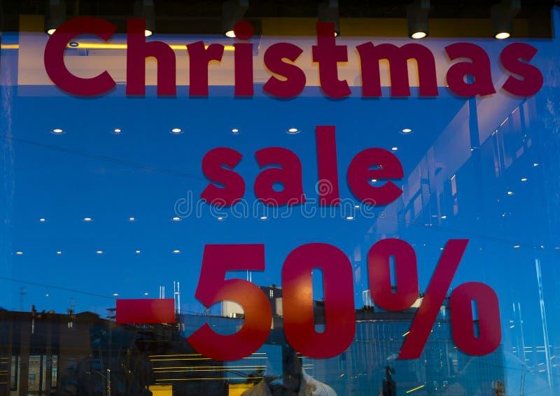 Vendita 50% di Natale fotografia stock