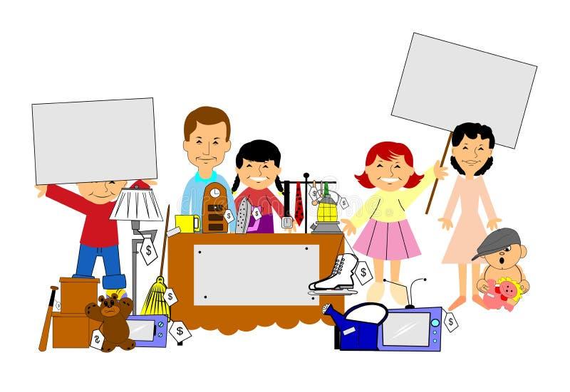 vendita di oggetti usati illustrazione vettoriale