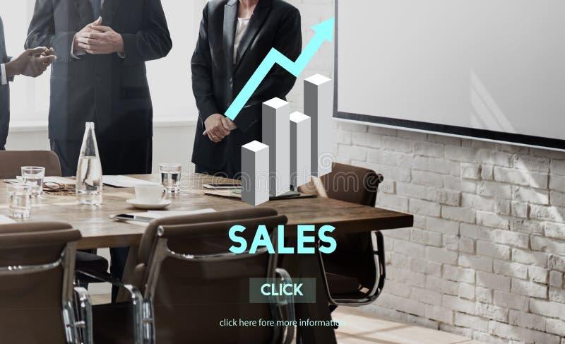 Vendita di vendite che vende concetto di vendita al dettaglio di profitto di costi di commercio immagini stock libere da diritti
