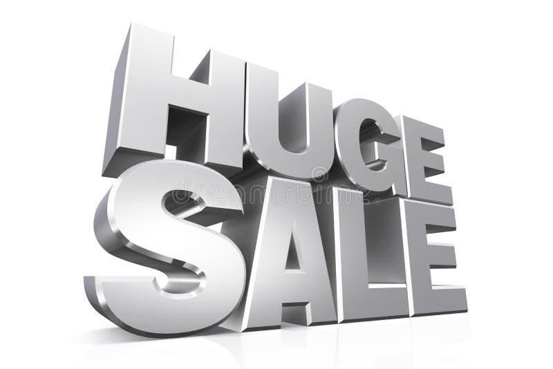 vendita enorme del testo dell'argento 3D illustrazione vettoriale