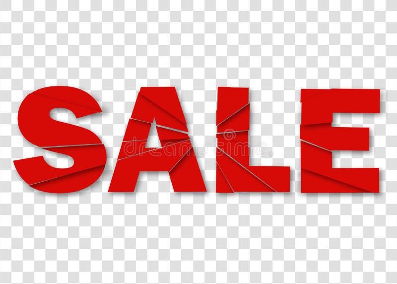 Vendita, insegna, emblema su fondo rosso per l'affare, vendita Vendita dell'insegna Vettore eps10 Vettore eps10 illustrazione di stock