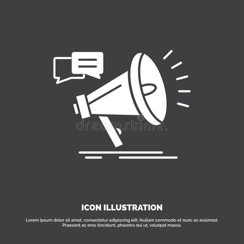 vendita, megafono, annuncio, promo, icona di promozione r illustrazione di stock