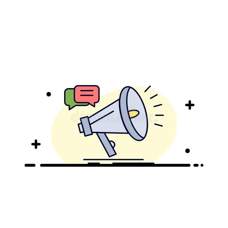 vendita, megafono, annuncio, promo, vettore piano dell'icona di colore di promozione illustrazione vettoriale