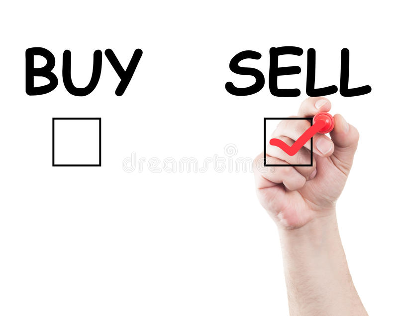 Vendita o affare fotografia stock libera da diritti