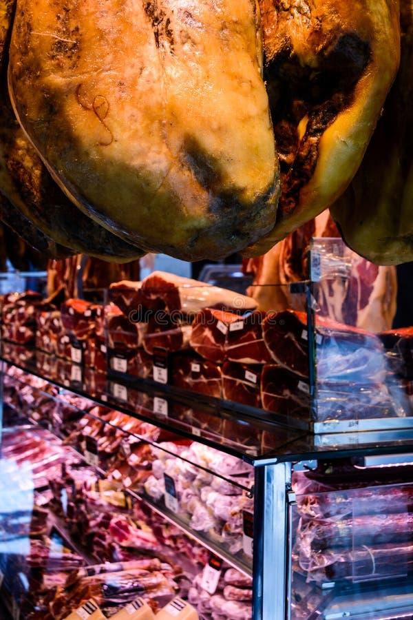 Vendita spagnola della carne immagine stock