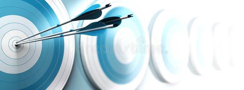 Vendita strategica, obiettivo di affari illustrazione di stock