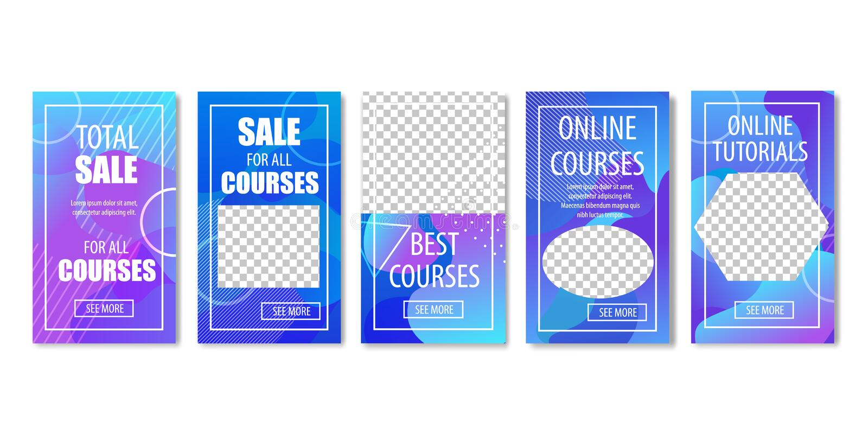 Vendita totale per l'insieme online di esercitazioni e di corsi illustrazione di stock