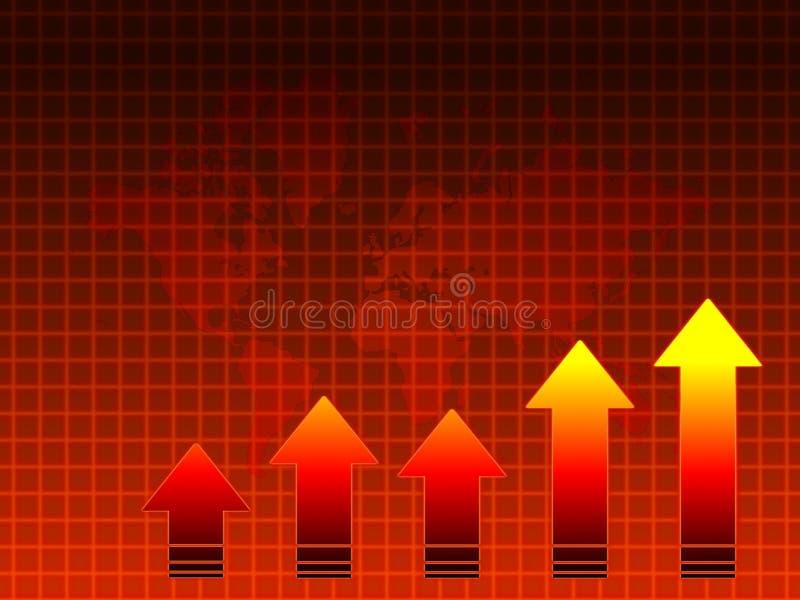 Vendite calde: programma di mondo e del grafico illustrazione di stock