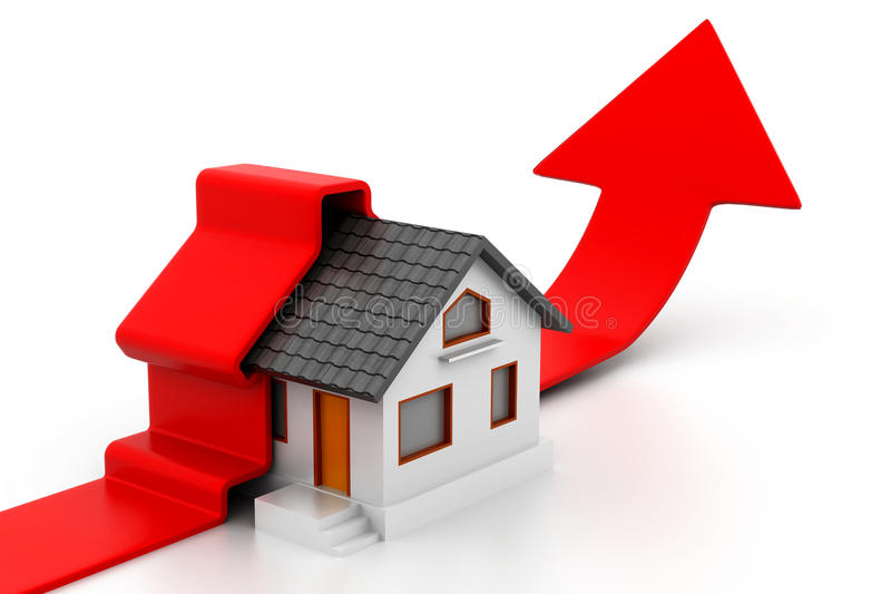 Vendite domestiche crescenti illustrazione di stock