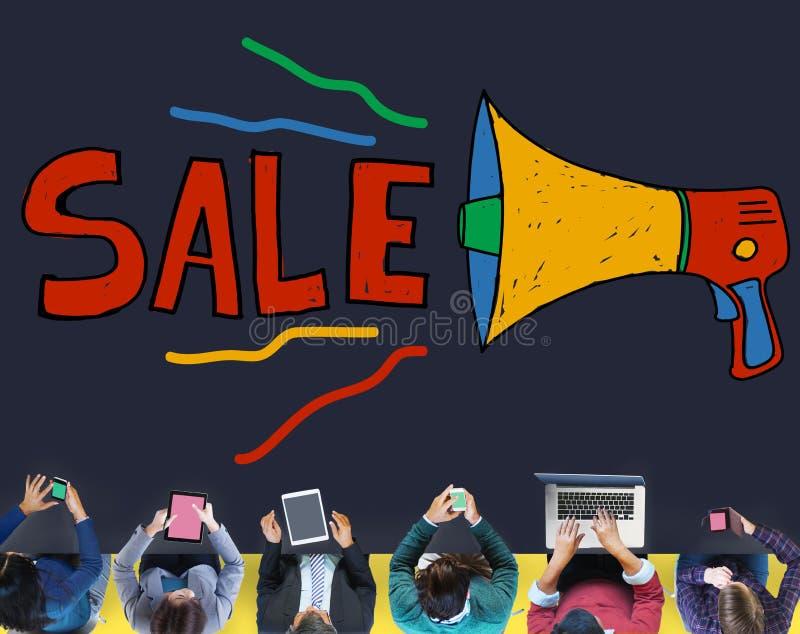 Vendite a ribasso che vendono concetto di vendita di commercio immagini stock