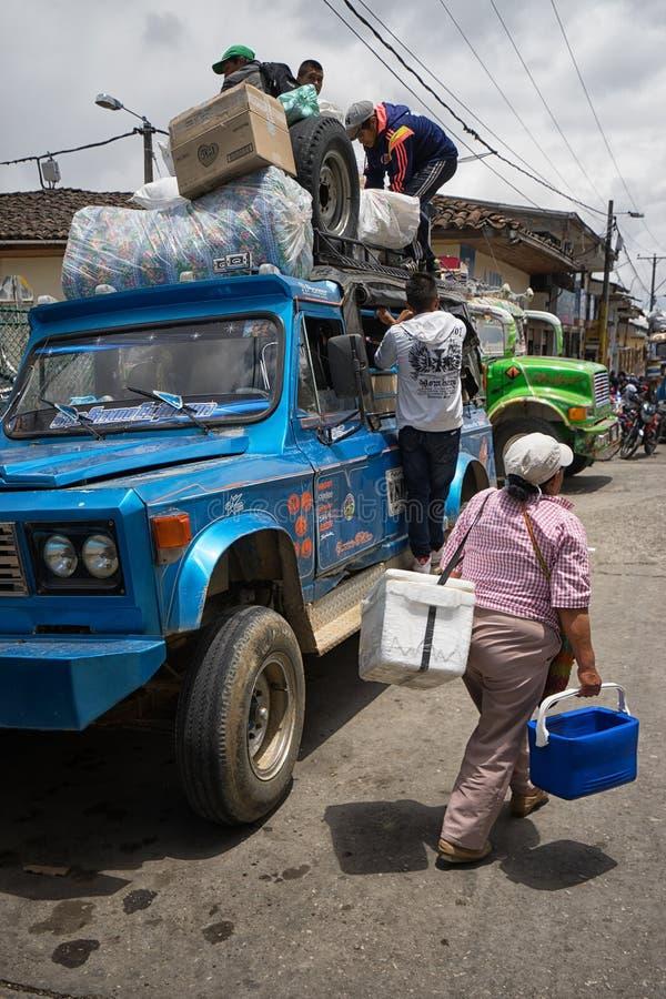 Venditore ambulante in Colombia fotografia stock libera da diritti
