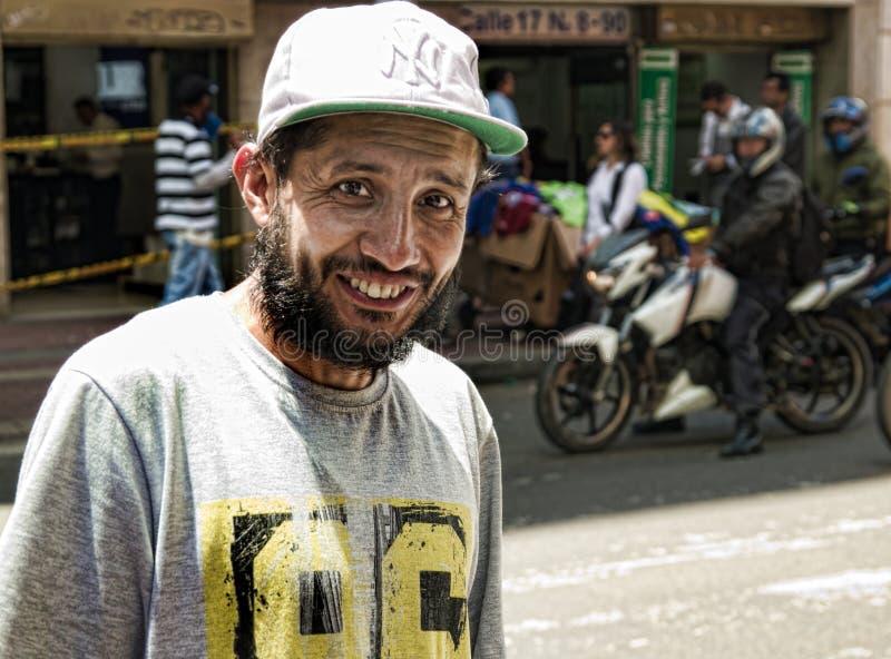 Venditore ambulante colombiano fotografia stock