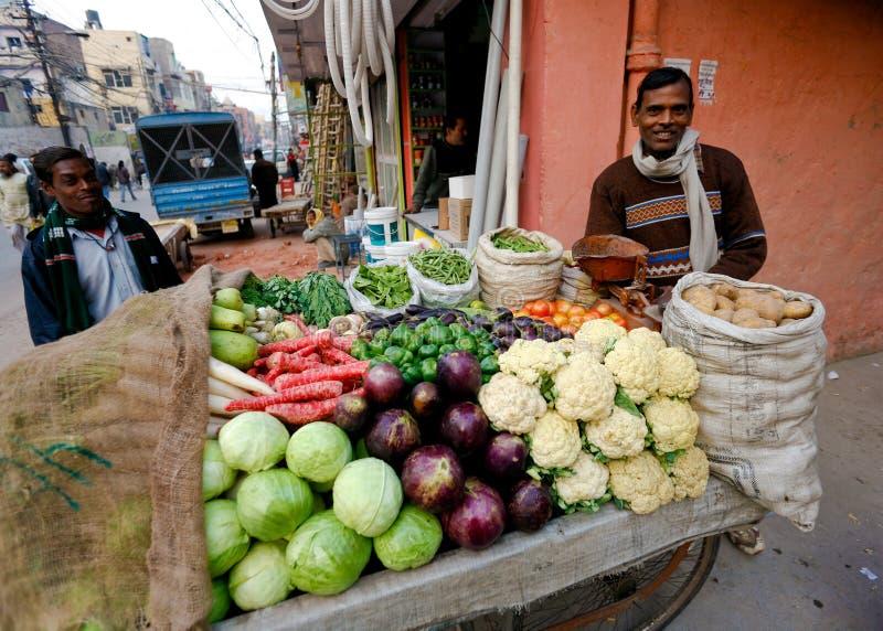 Venditore ambulante di verdure fotografie stock