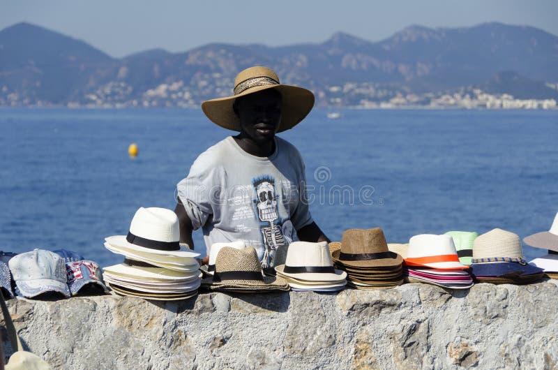 Venditore del cappello fotografie stock libere da diritti