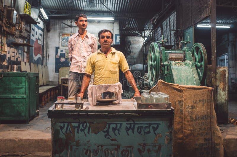 Venditore del succo fotografia stock
