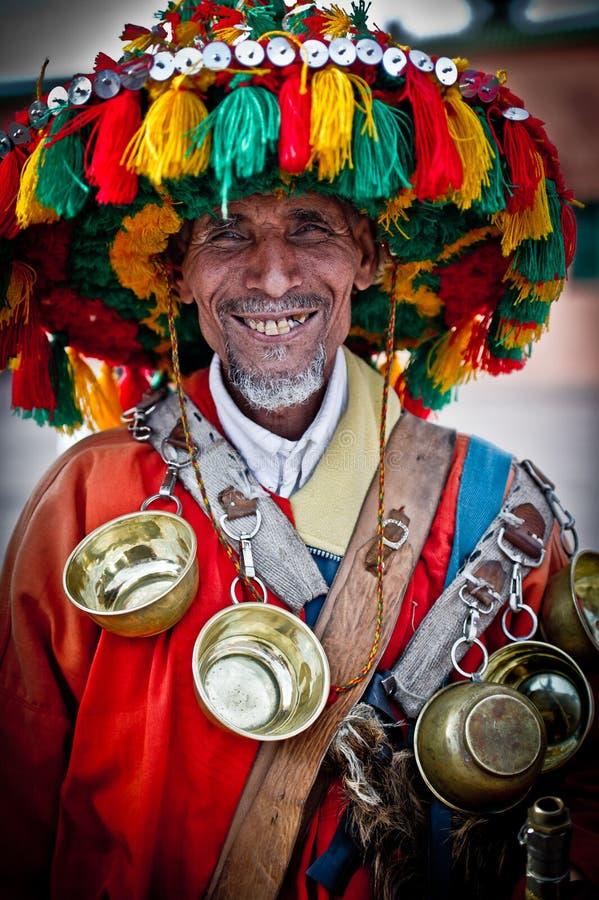 Venditore dell'acqua, Marrakesh 2 fotografie stock
