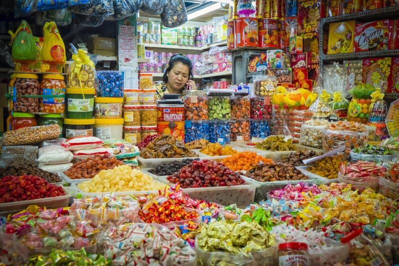 Venditore di Candy, Ho Chi Minh City, Vietnam fotografia stock