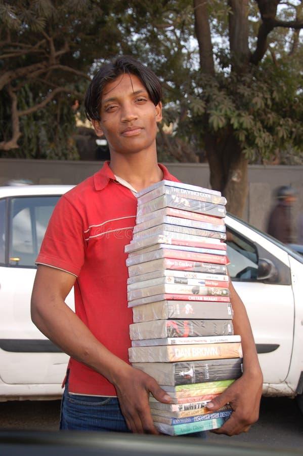 Venditore di libro immagine stock