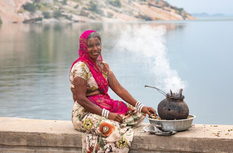 Venditore indiano della donna fotografia stock libera da diritti