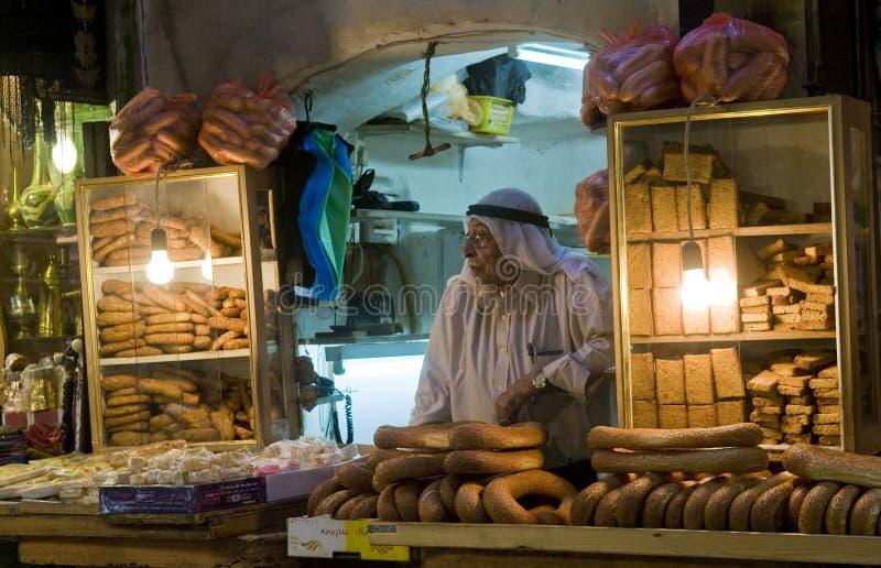 Venditore palestinese del pane immagine stock libera da diritti